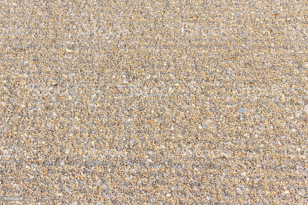 Beach sand background and texture stock photo