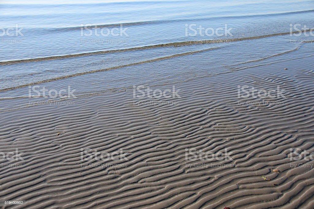Beach sand pattern stock photo