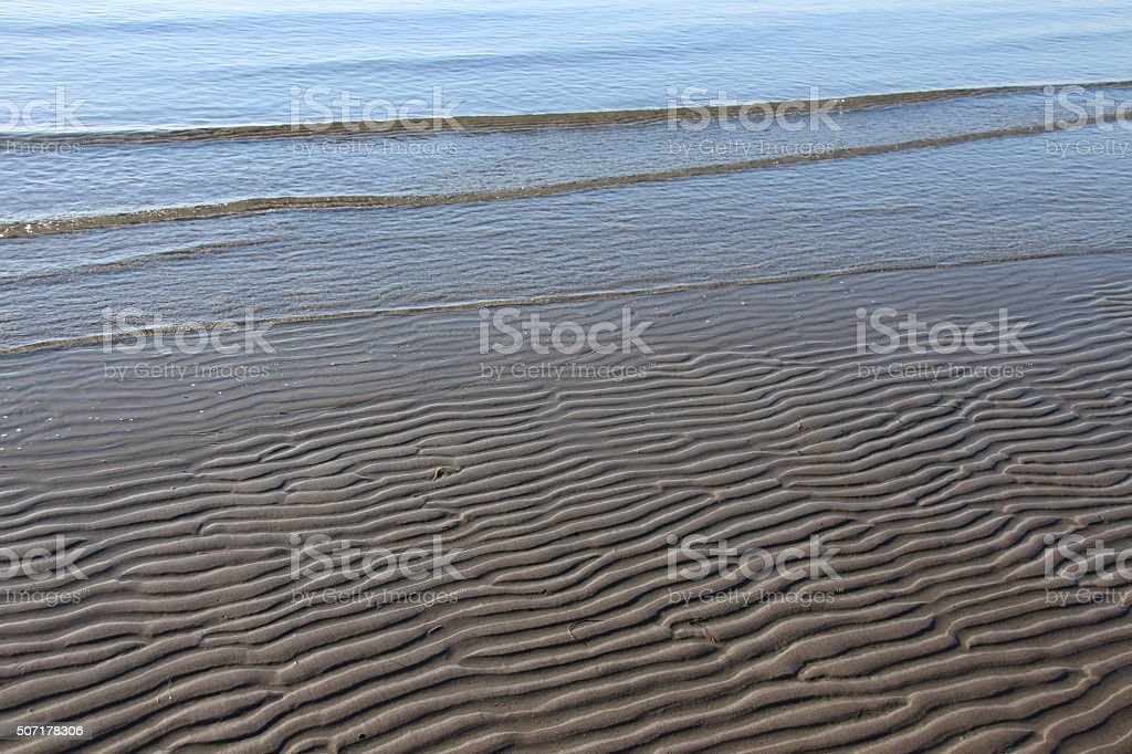 Beach Sand Ripples stock photo