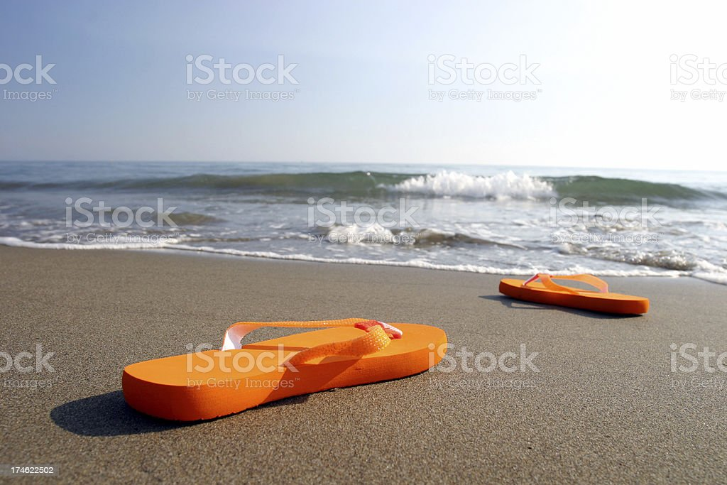 Beach sandals royalty-free stock photo