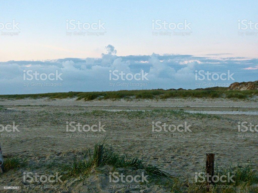 Beach Sankt Peter Ording stock photo