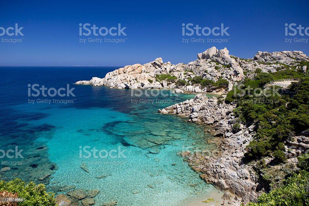 Beach Sardinia Capo Testa stock photo