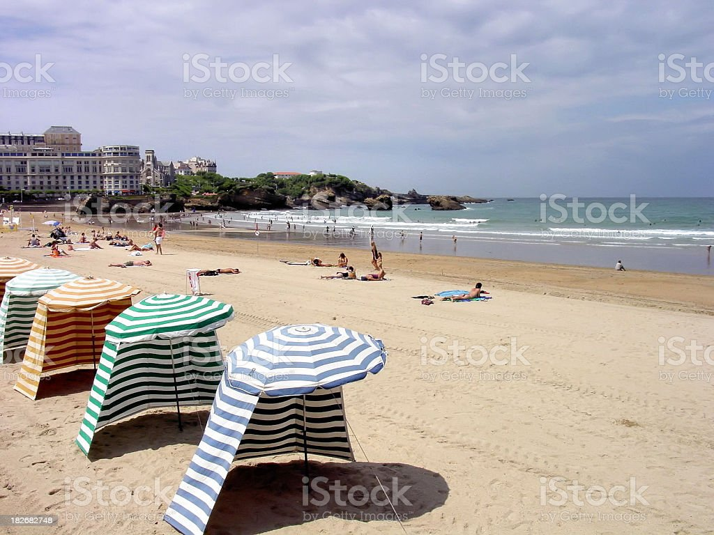 Beach Scene France stock photo