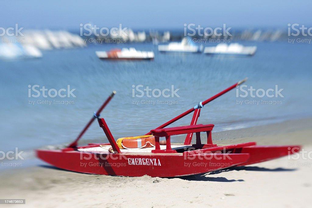 Beach Scene in Rimini, Italy royalty-free stock photo