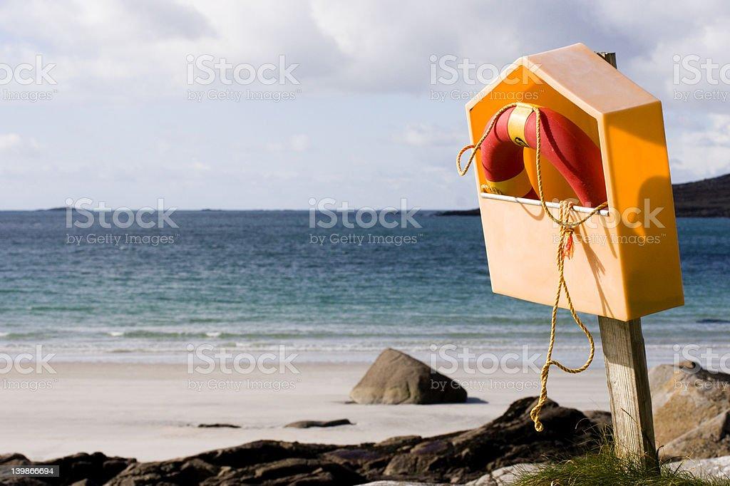 Beach Scene including Buoy royalty-free stock photo