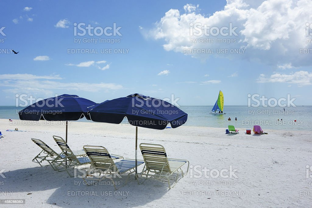 Beach scene on Marco Island stock photo