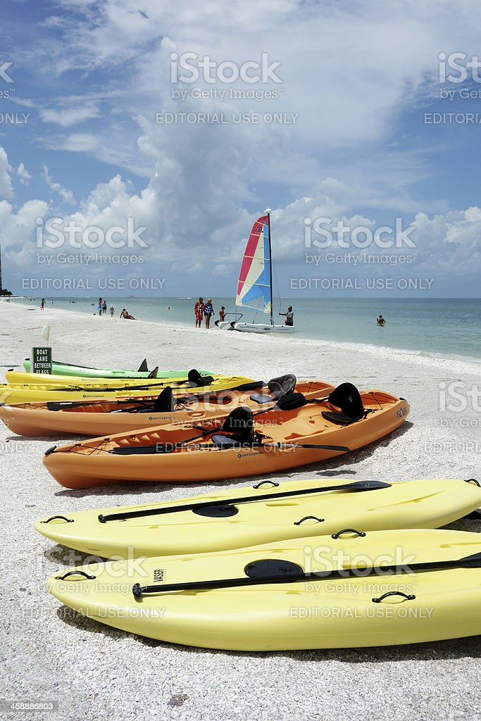 Beach scene on Marco Island royalty-free stock photo