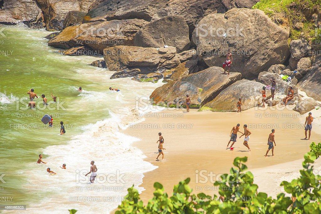 Beach scene. stock photo