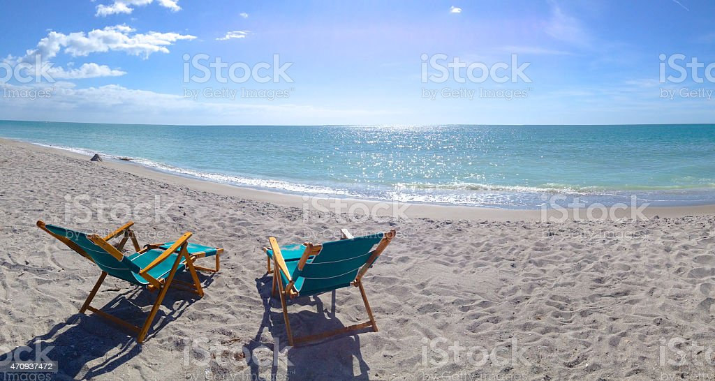 Beach scene stock photo