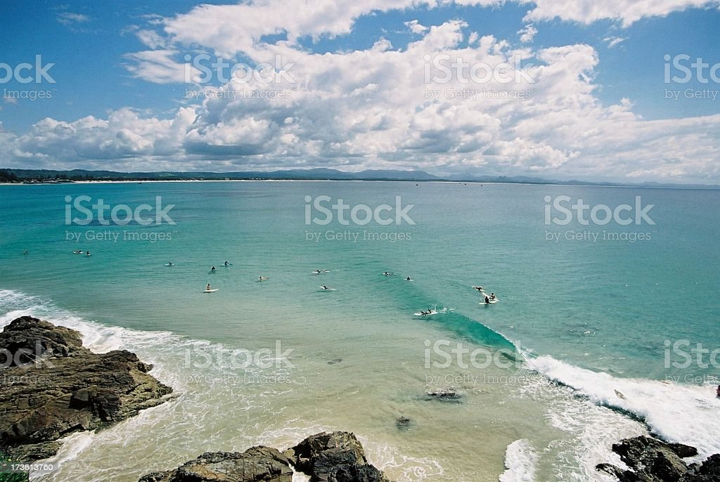 Beach scene - The Pass stock photo