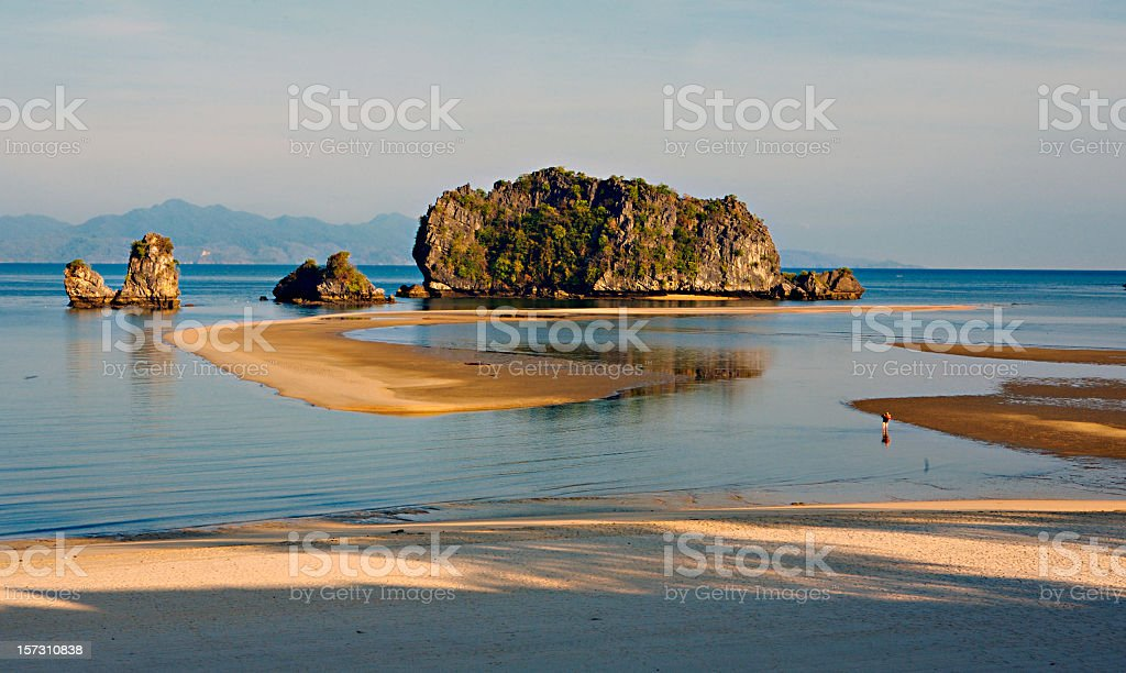 Beach scenery at Langkawi stock photo