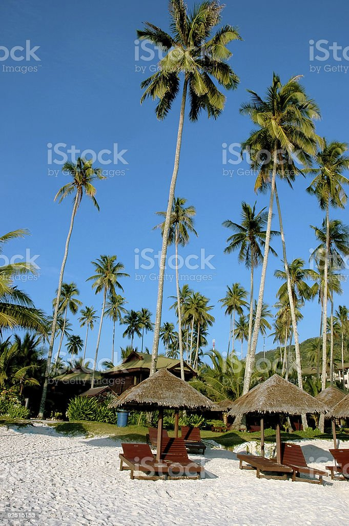 Beach scenery royalty-free stock photo