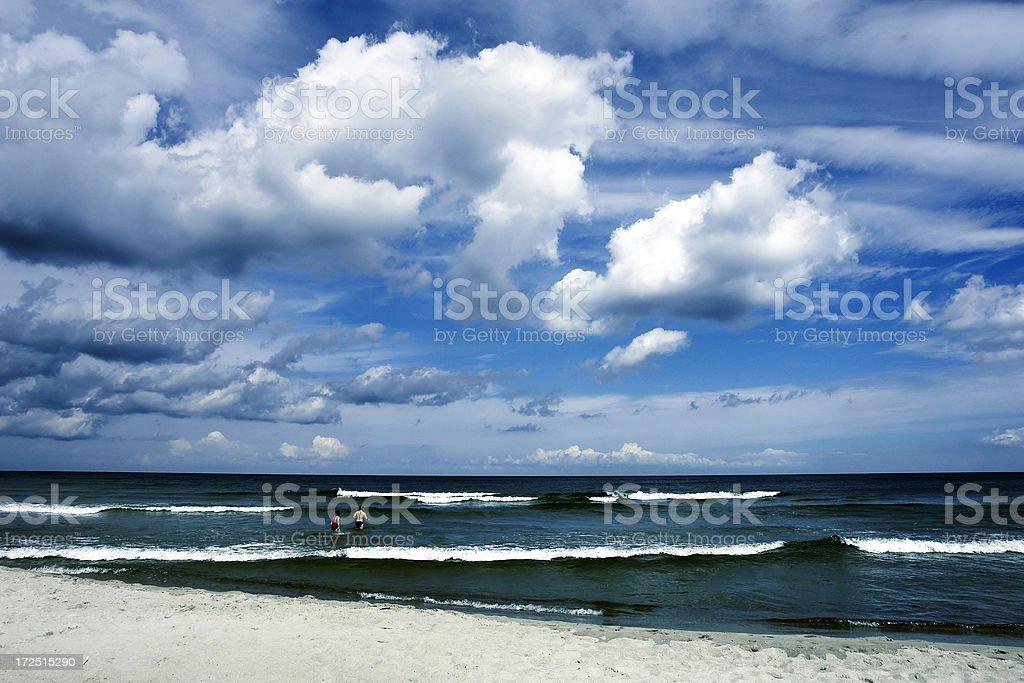 Beach + Sea + Sky royalty-free stock photo