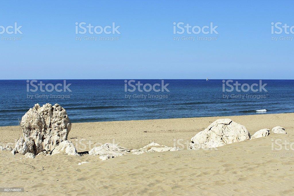 Пляж морской камень Patara Стоковые фото Стоковая фотография