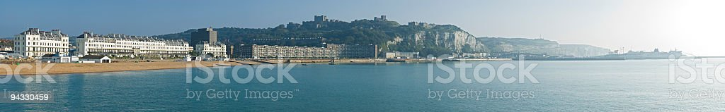 Beach, seafront and ferries, Dover, UK royalty-free stock photo