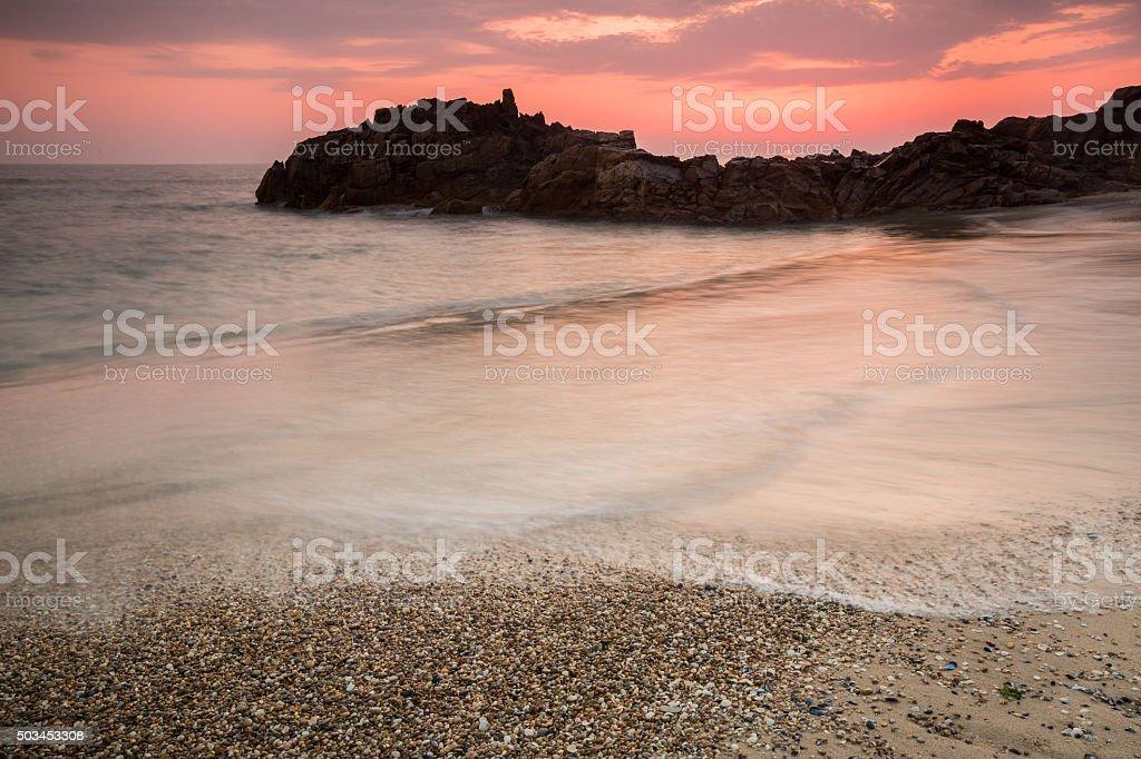 Beach seascape stock photo