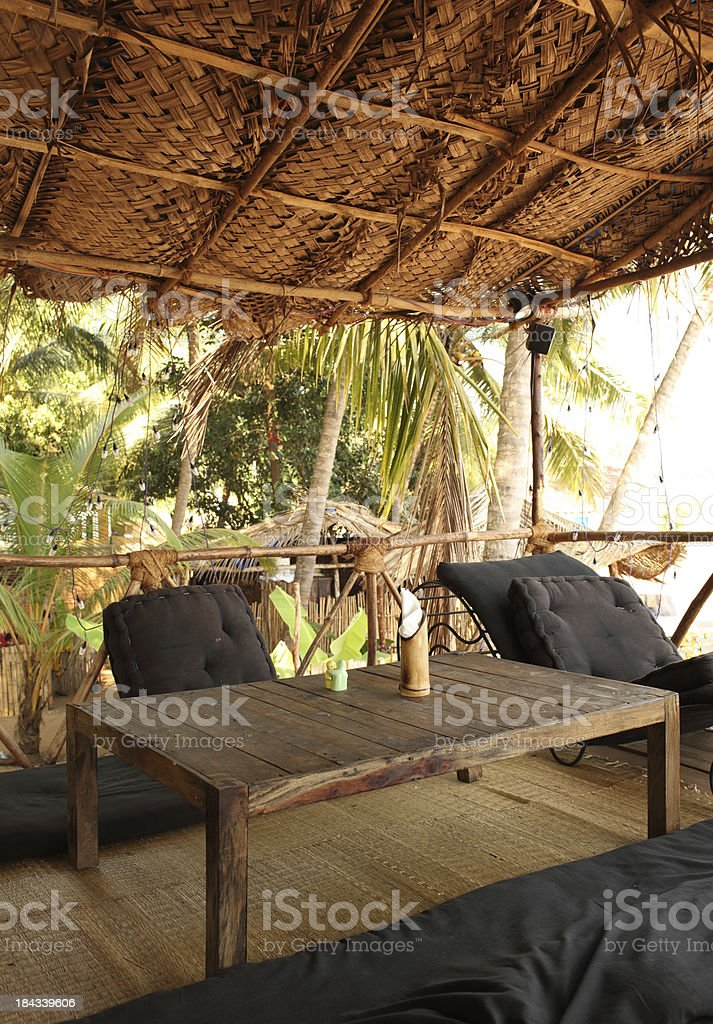 Beach Shack Restaurant in Goa, India royalty-free stock photo