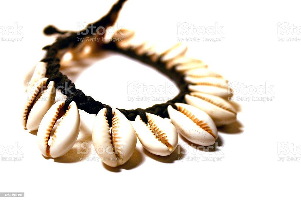 Beach Shell Necklace royalty-free stock photo