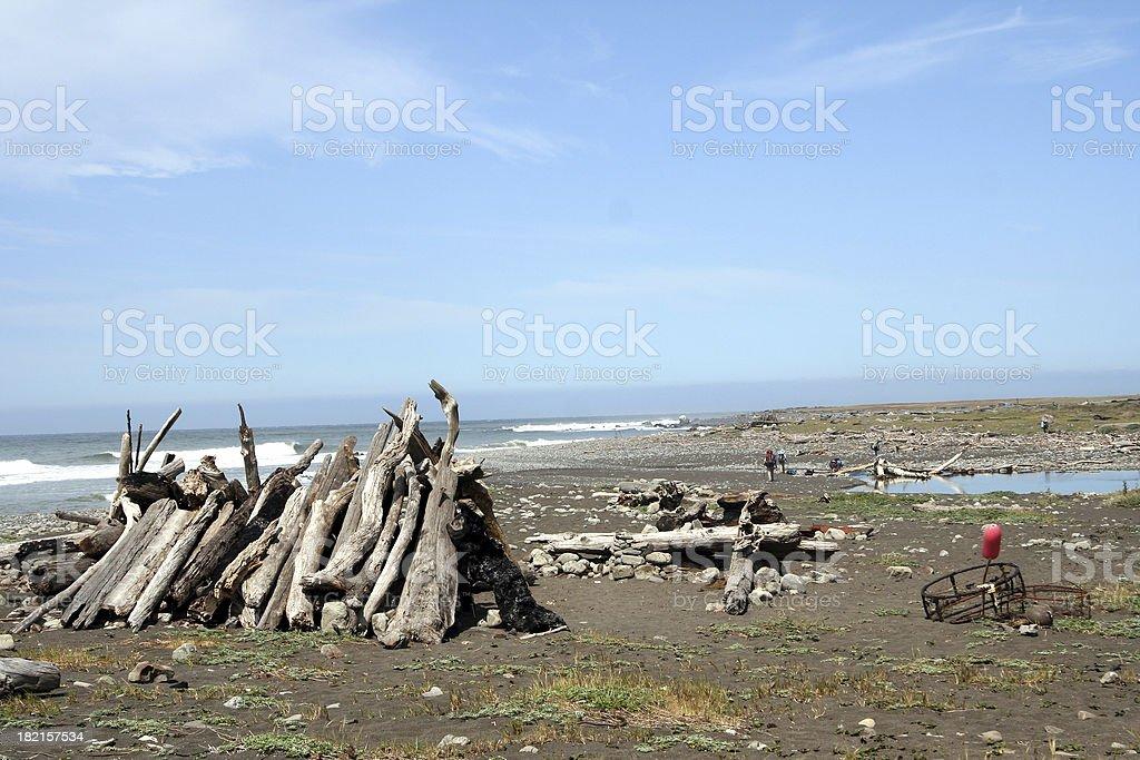 Beach Shelter royalty-free stock photo
