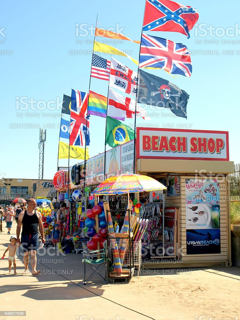 Beach Shop. stock photo