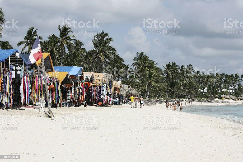 Beach shopping royalty-free stock photo