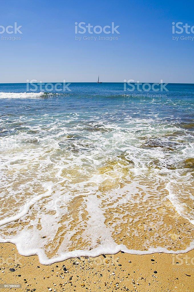 Beach shore royalty-free stock photo