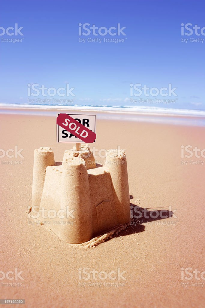 Beach Side Real Estate stock photo
