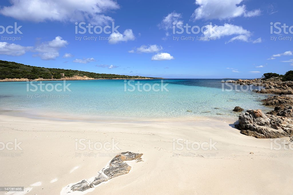Beach side view on Capera Island stock photo