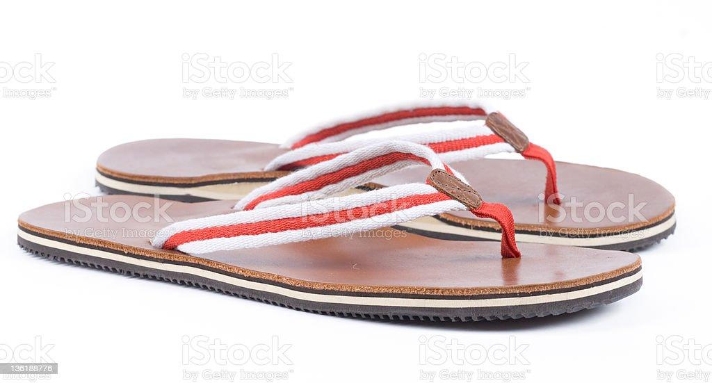 beach slipper royalty-free stock photo