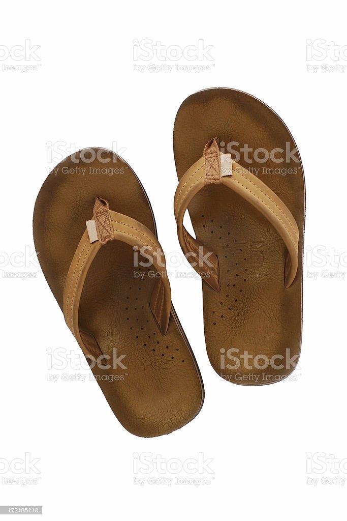 Beach Slippers stock photo