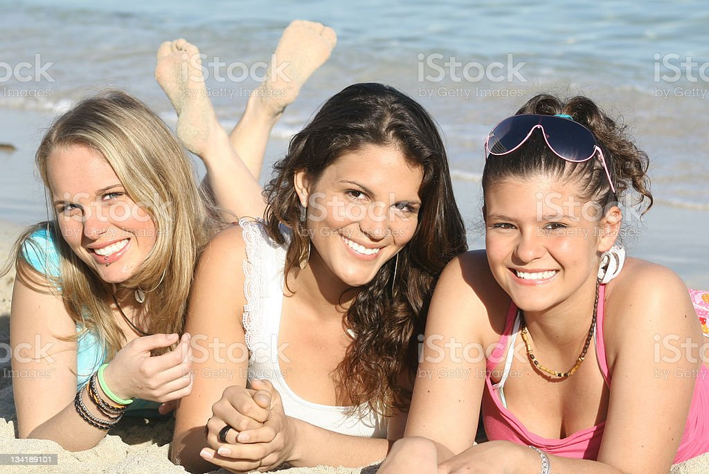 beach smiles(Scroll down page for similar images) royalty-free stock photo