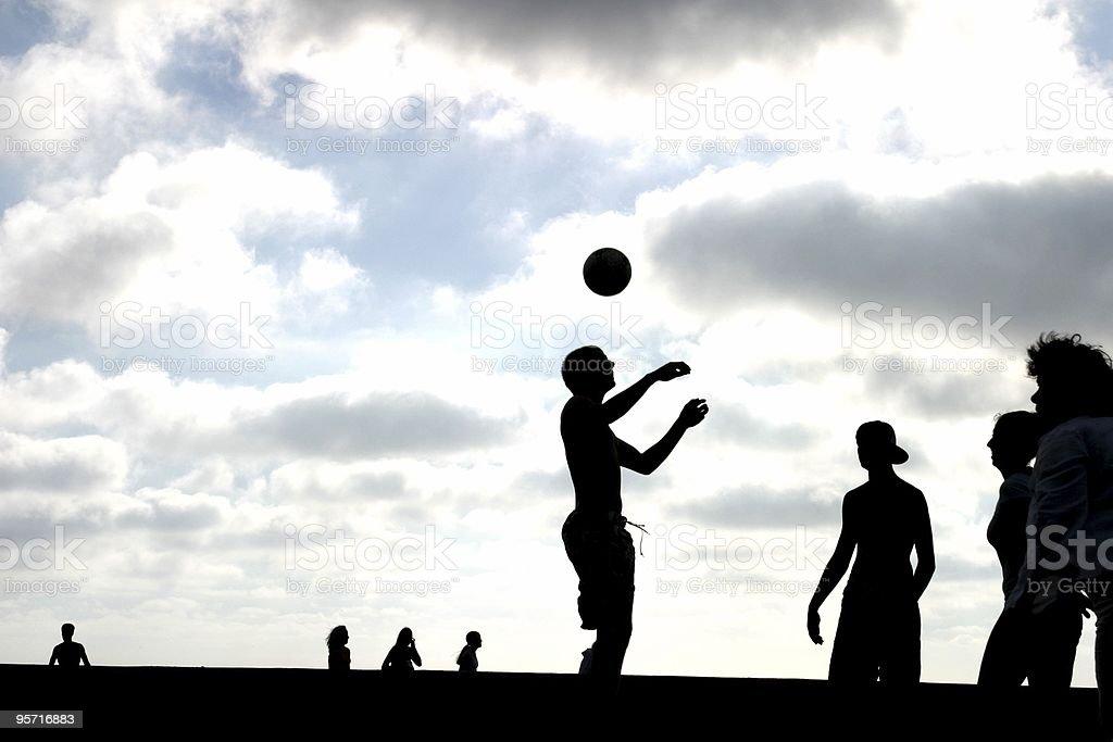 ビーチサッカー ロイヤリティフリーストックフォト