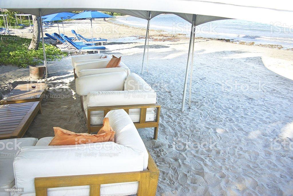 beach spa; lap of luxury royalty-free stock photo