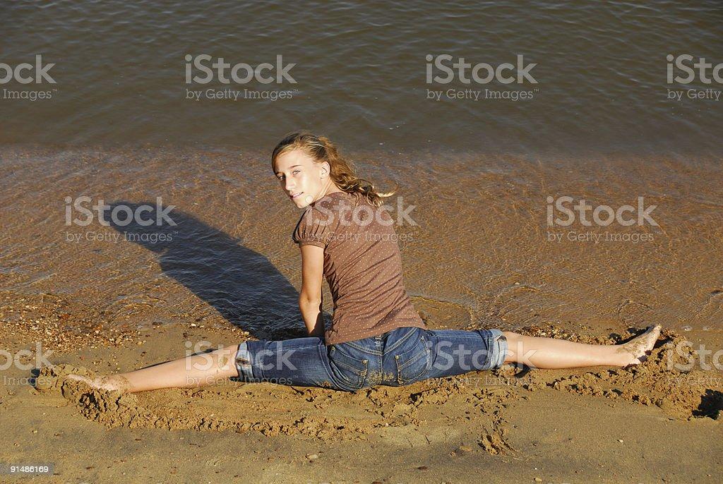 Beach Splits royalty-free stock photo