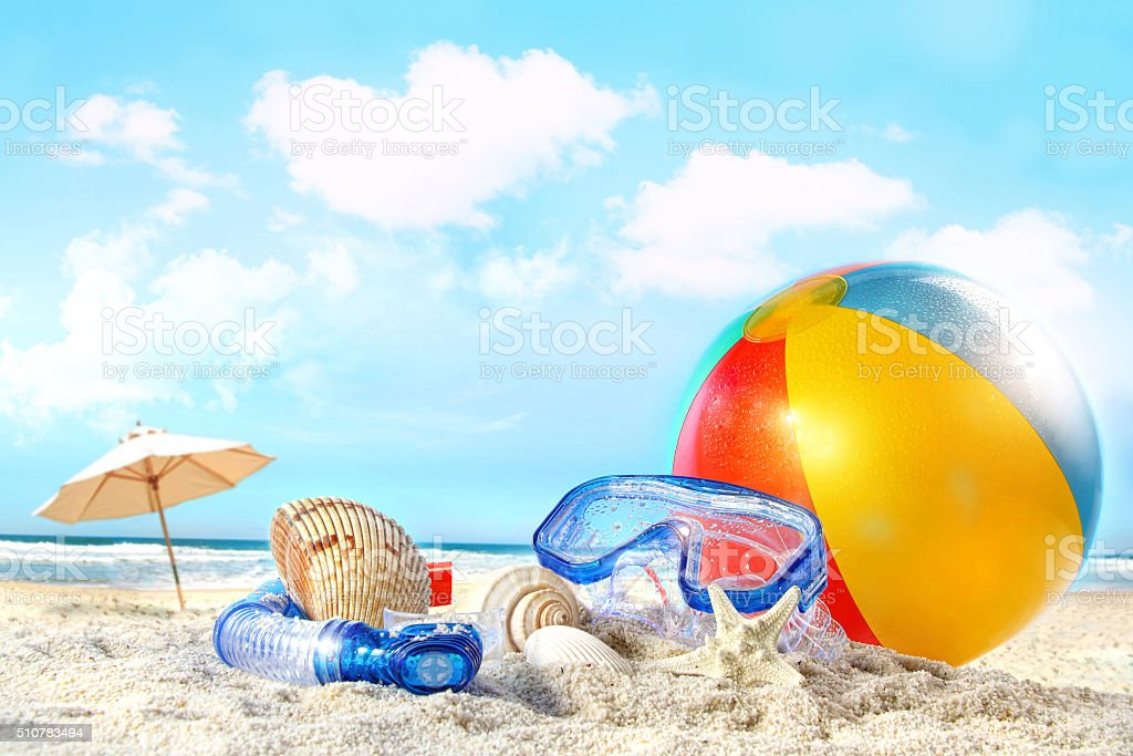 Beach sports stock photo