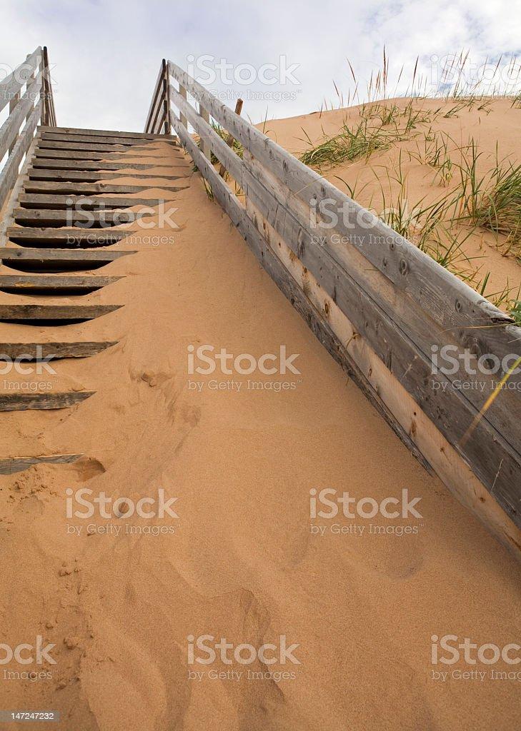 Beach stairs stock photo
