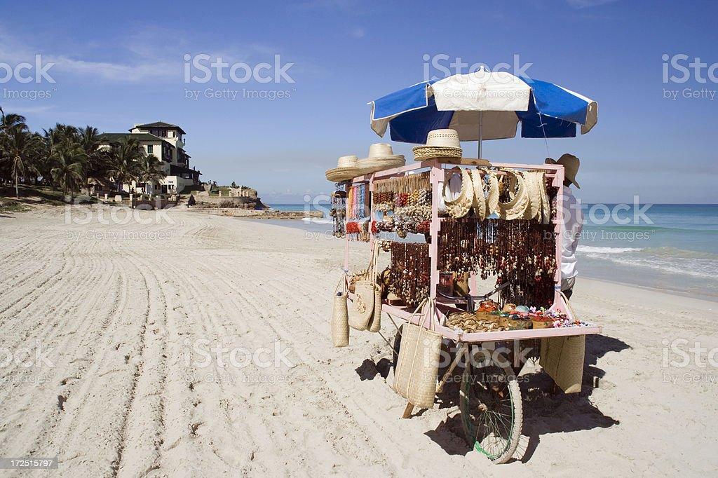 Beach Stall stock photo
