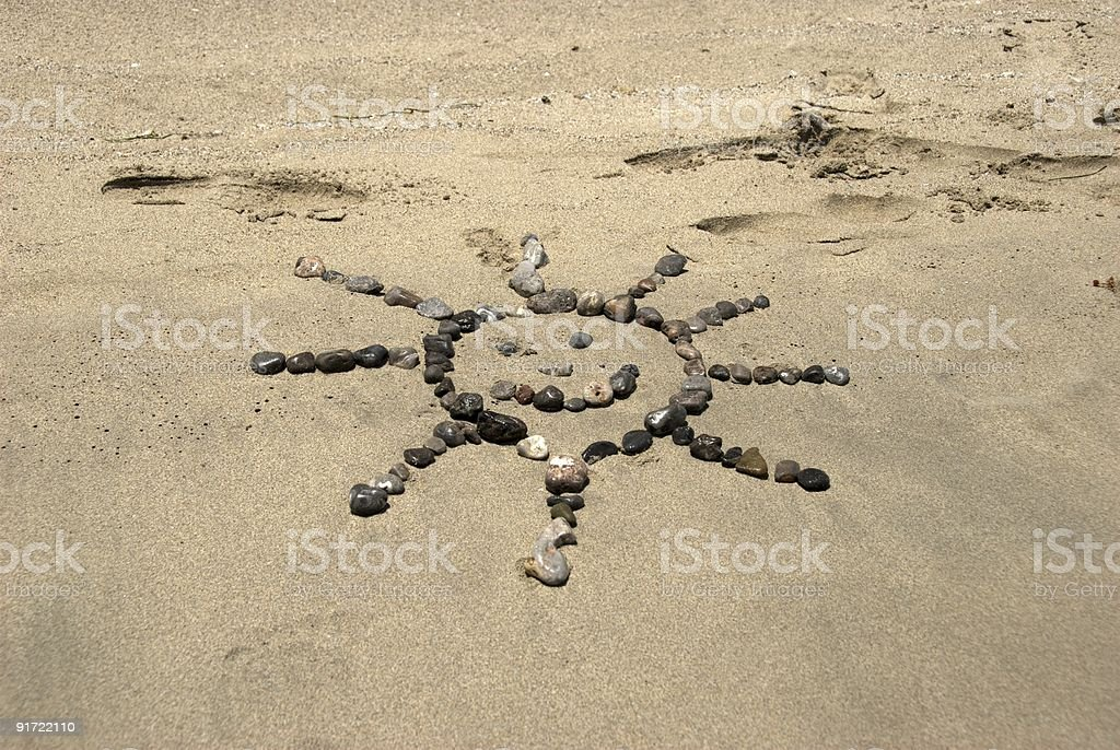 Beach Stones Sun royalty-free stock photo