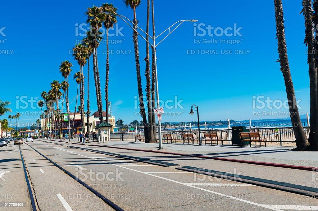 Beach Street, Santa Cruz, California, USA stock photo