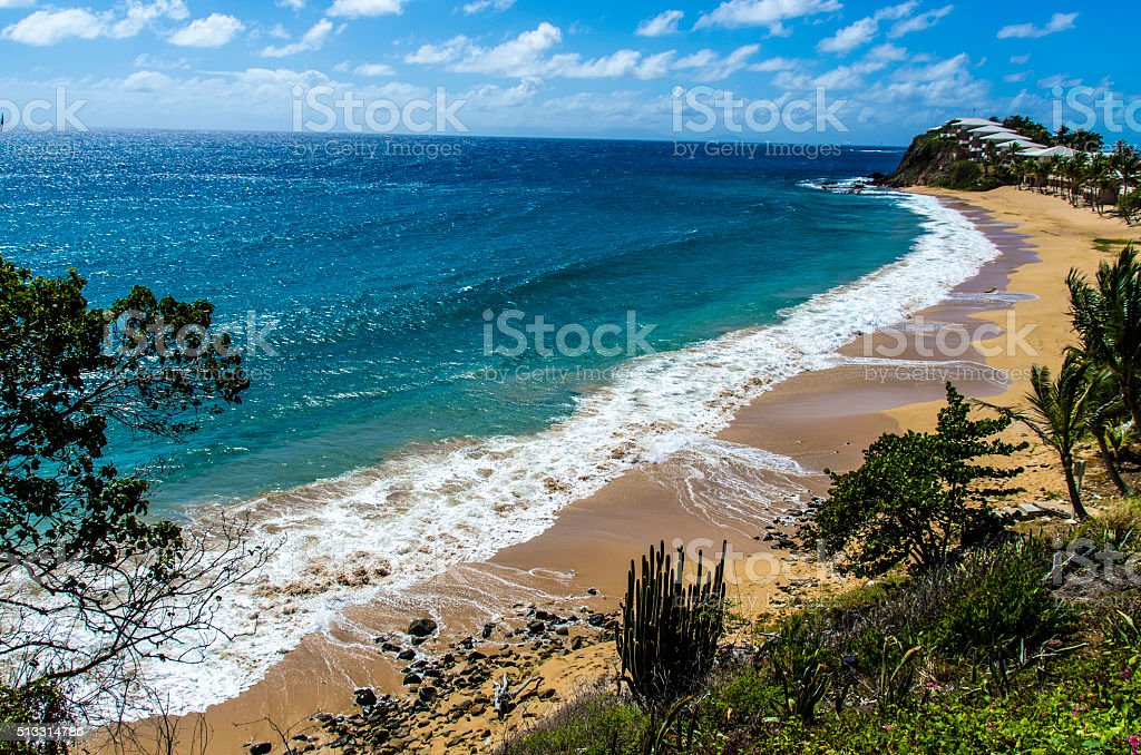 Beach Stretch in the Caribbeans stock photo