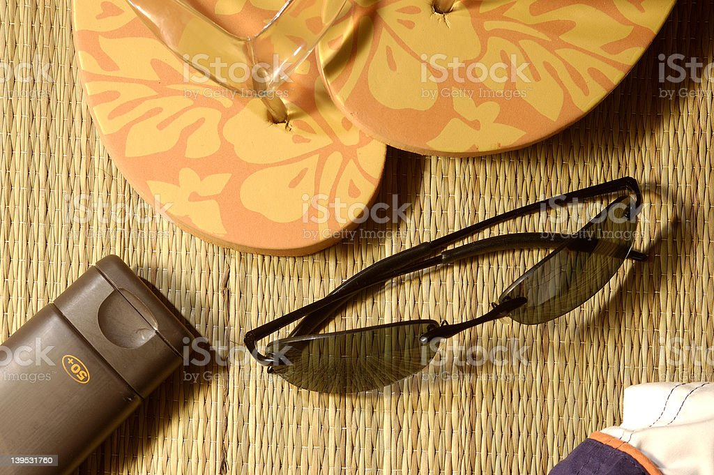beach stuff royalty-free stock photo