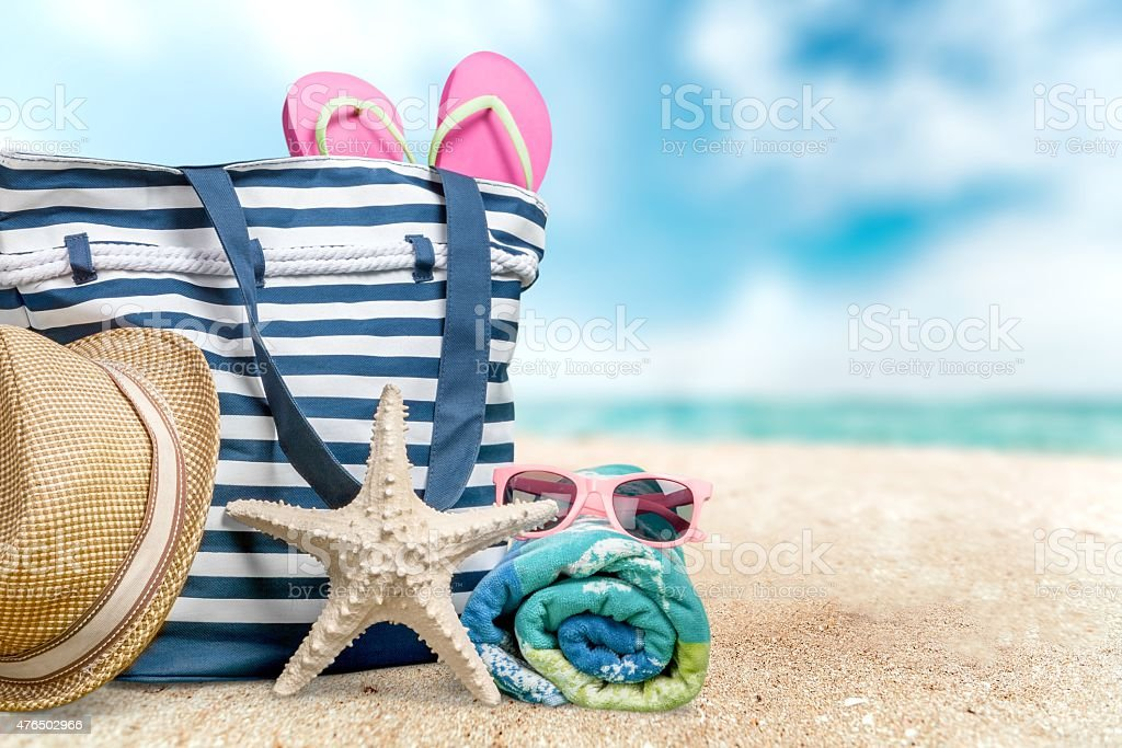 Beach, Summer, Group of Objects stock photo