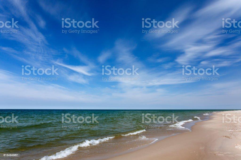 Beach Summer Nature Travel Background stock photo