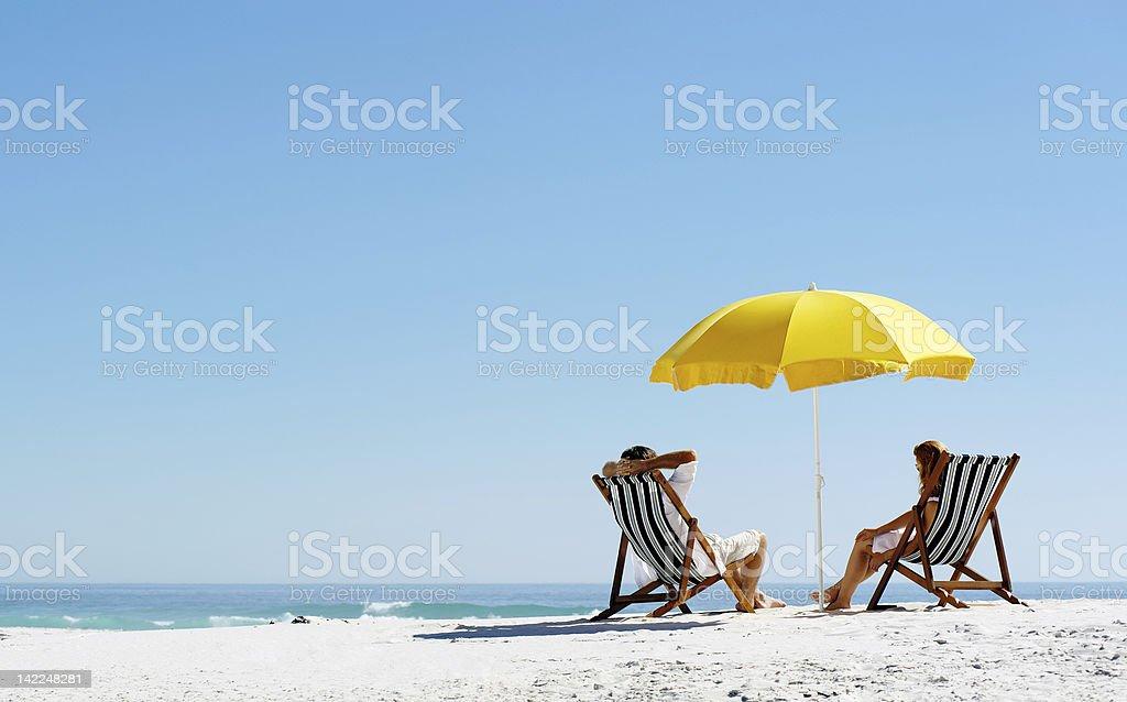 Beach summer umbrella royalty-free stock photo