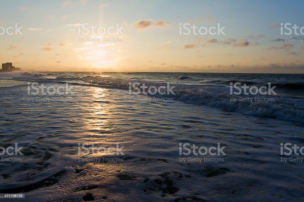 Beach Sunrise royalty-free stock photo