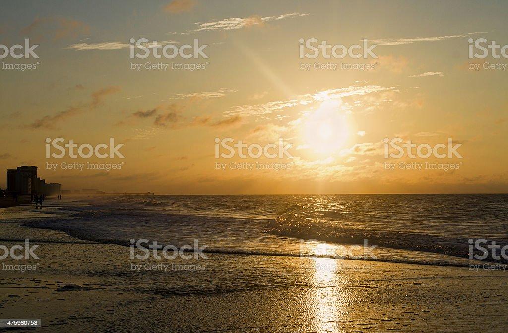 Beach Sunrise royalty-free stock photo