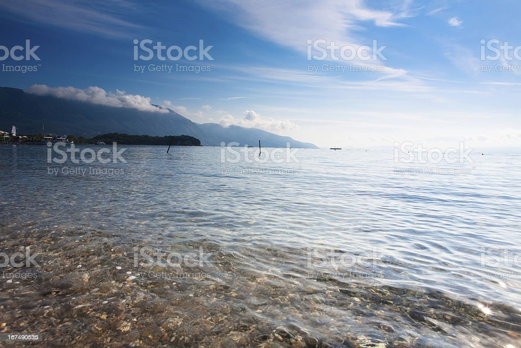 beach sunrize stock photo