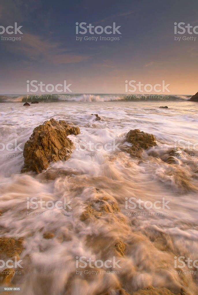 beach sunset 6 royalty-free stock photo
