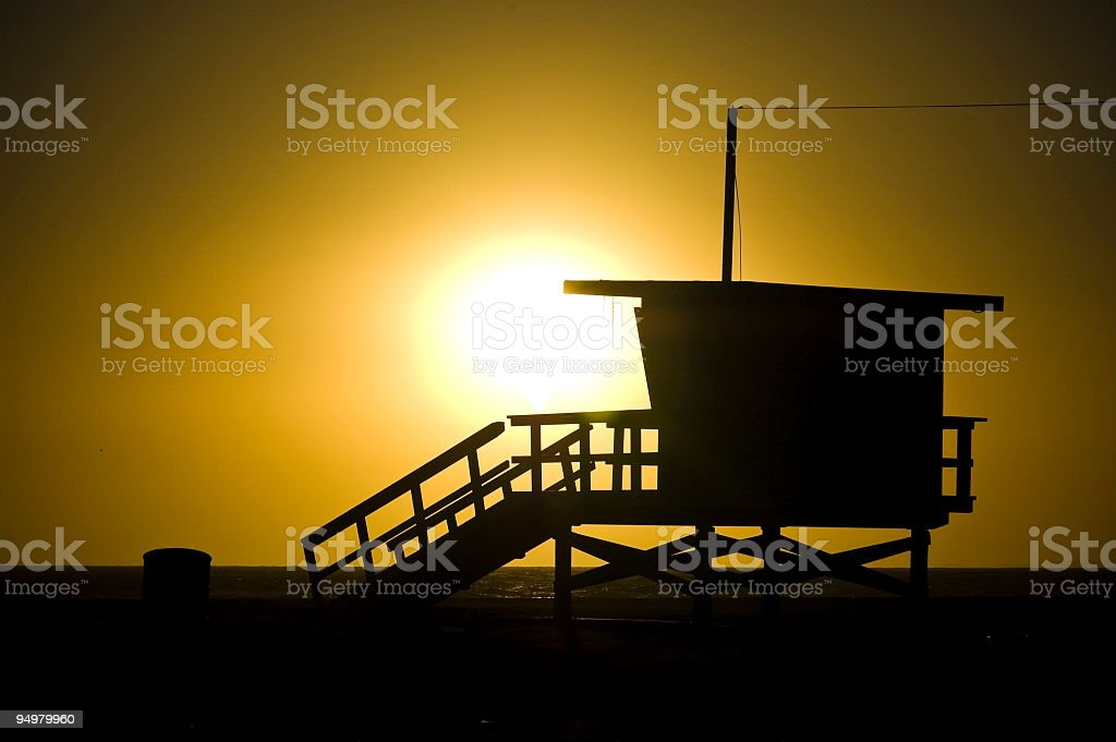 Beach sunset background royalty-free stock photo