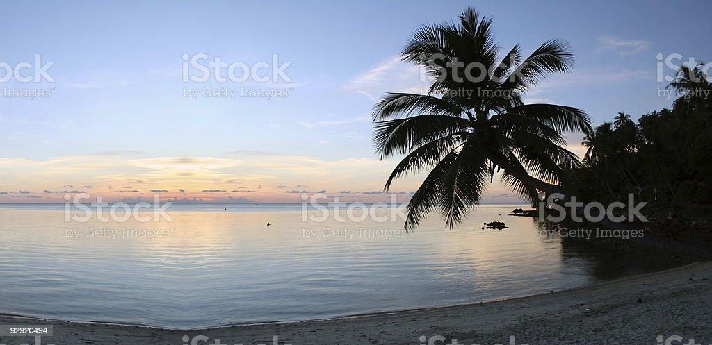 Beach Sunset - Purity royalty-free stock photo